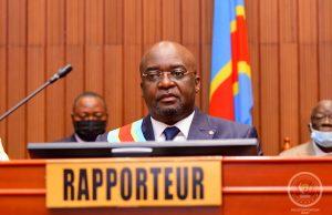 Le Rapporteur Michel KANYIMBU